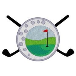 Golf Scene embroidery design