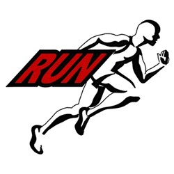 Run Logo embroidery design