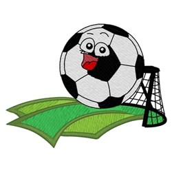 Kids Soccer Logo embroidery design