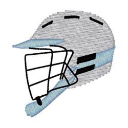 Lacross Helmet embroidery design