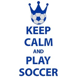 Keep Calm Play Soccer embroidery design