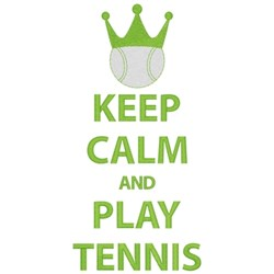 Keep Calm Play Tennis embroidery design