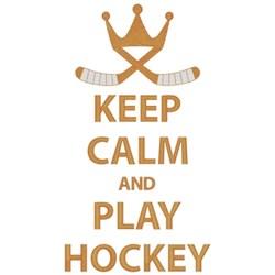 Keep Calm Play Hockey embroidery design