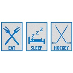 Eat, Sleep, Hockey embroidery design