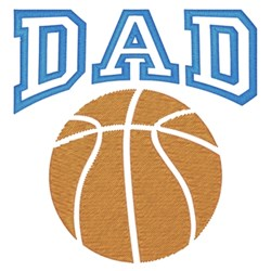 Basketball Dad embroidery design