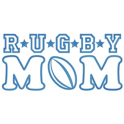 Rugby Mom embroidery design