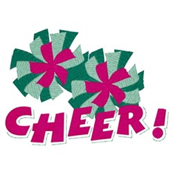 Cheer Poms! embroidery design