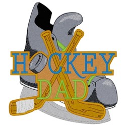 Hockey Dad embroidery design