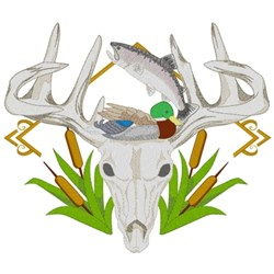 Hunting & Fishing embroidery design