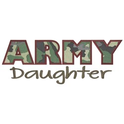 Army Daughter embroidery design