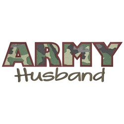 Army Husband embroidery design