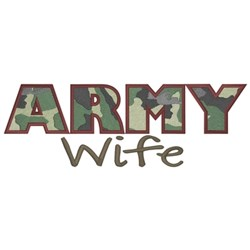 Army Wife embroidery design