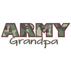Army Grandpa embroidery design