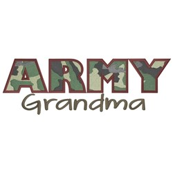 Army Grandma embroidery design