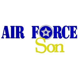 Air Force Son embroidery design