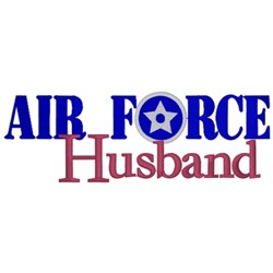 Air Force Husband embroidery design