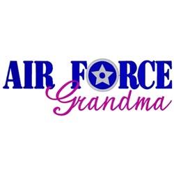 Air Force Grandma embroidery design