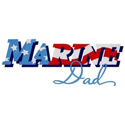 Marine Dad embroidery design