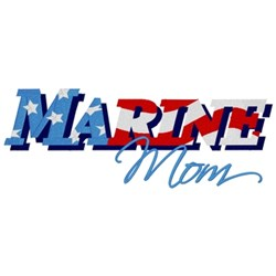 Marine Mom embroidery design