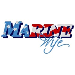 Marine Wife embroidery design