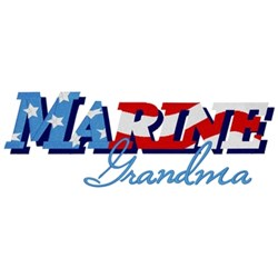 Marine Grandma embroidery design