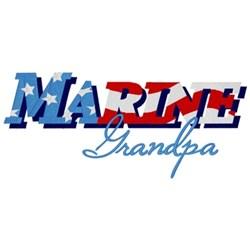 Marine Grandpa embroidery design
