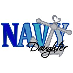 Navy Daughter embroidery design