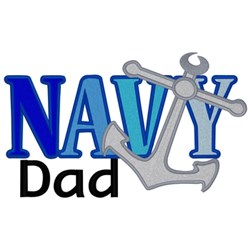 Navy Dad embroidery design