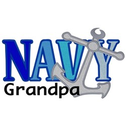 Navy Grandpa embroidery design