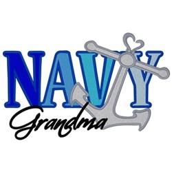 Navy Grandma embroidery design