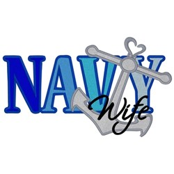 Navy Wife embroidery design