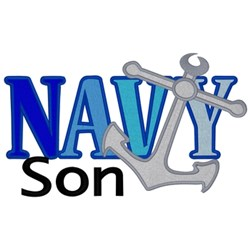 Navy Son embroidery design