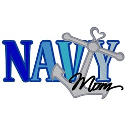 Navy Mom embroidery design