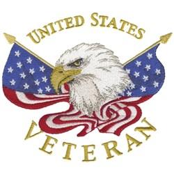 United States Veteran embroidery design