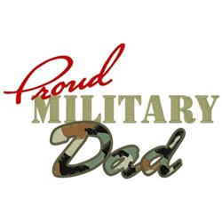 Proud Military Dad embroidery design