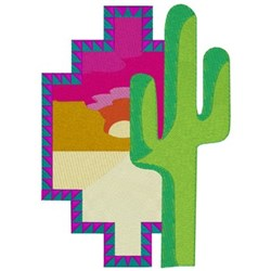 Cactus Scene embroidery design