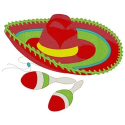 Mexican Fiesta embroidery design