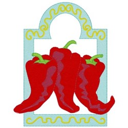Chili Peppers embroidery design