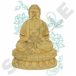 Bronze Buddha embroidery design