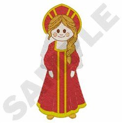 Russian Kokoshnik Girl embroidery design