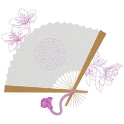 Oriental Fan embroidery design