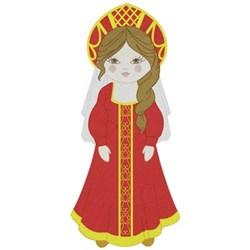 Russian Kokoshnik Girl embroidery design