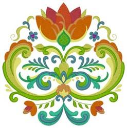 Rosemaling Design embroidery design