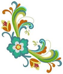 Rosemaling Corner embroidery design