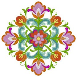Rosemaling Pattern embroidery design