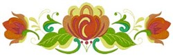 Rosemaling embroidery design