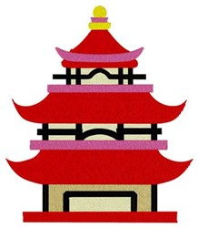 Pagoda embroidery design