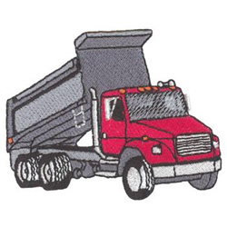 Dump Truck Machine Embroidery Design