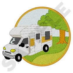 Camping Rv embroidery design
