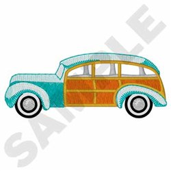 Woodie Station Wagon embroidery design